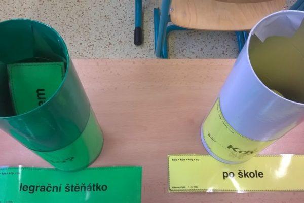 Žáci si losují zadání pro svůj text - Píšeme příběh (R. Hubálková)
